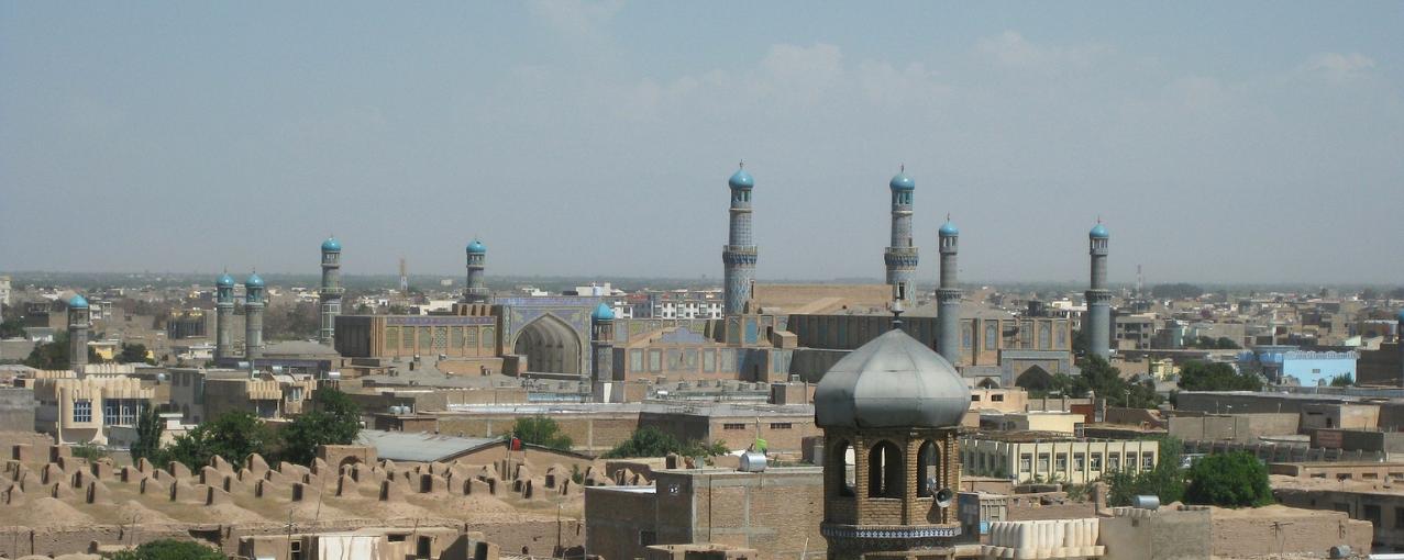 Cidade de Herat, no Afeganistão.