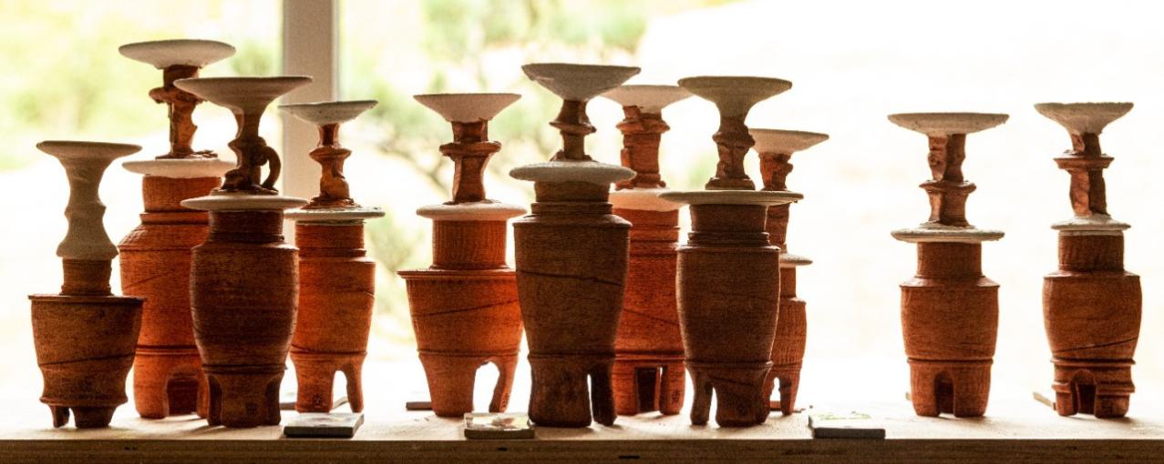 Foto de garrafas de cerâmica